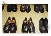 Mens Fine Italian Leather Shoes Carry-all Pouch