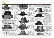Men's Hats, 1895 Carry-all Pouch
