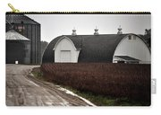 Michigan Barn With Grain Bins Rainy Day Usa Carry-all Pouch