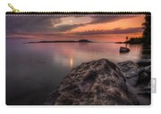 2 Mile Point Sunset And Moonrise Carry-all Pouch