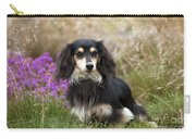 Miniature Long-haired Dachshund Carry-all Pouch