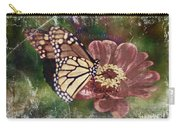 Monarch- Butterfly Mixed Media Photo Composite Carry-all Pouch