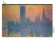 Monet's The Houses Of Parliament At Sunset Carry-all Pouch