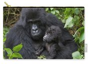 Mountain Gorilla And Infant Carry-all Pouch