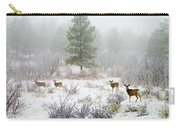 Mule Deer In Heavy Snow Carry-all Pouch