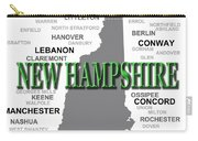 New Hampshire State Pride Map Silhouette  Carry-all Pouch