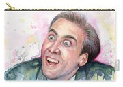 Nicolas Cage You Don't Say Watercolor Portrait Carry-all Pouch