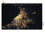 Night Time Satellite Image Of Chicago Carry-all Pouch