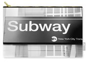 Nyc Subway Sign Carry-all Pouch