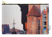 Old Port Crane In Gdansk Carry-all Pouch