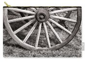 Old Wagon Wheel On Cart Carry-all Pouch