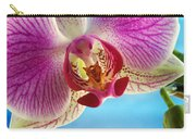 Pink Orchid Flower Details Carry-all Pouch