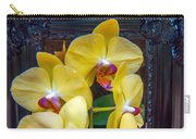 Orchid Flowers Growing Through Old Wooden Picture Frame Carry-all Pouch