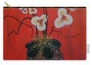 Orchids In A Pot On Orange Carry-all Pouch