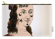 Ornamental Patches On Face 17th Century Carry-all Pouch