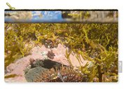 Over-under Split Shot Of Clear Water In Tidal Pool Carry-all Pouch