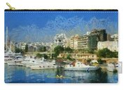Panoramic Painting Of Pasalimani Port Carry-all Pouch