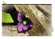 Peeking Violet Carry-all Pouch