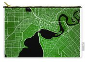 Perth Street Map - Perth Australia Road Map Art On Colored Backg Carry-all Pouch