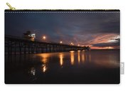 Pier In The Pacific Ocean At Dusk, San Carry-all Pouch