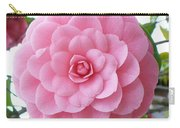 Pink Camellia Square Carry-all Pouch