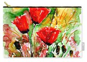Poppy Lawn Carry-all Pouch