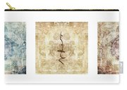 Prayer Flag Triptych Carry-all Pouch by Carol Leigh