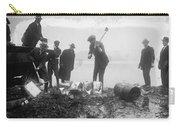 Prohibition Feds Destroy Liquor  1923 Carry-all Pouch