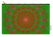 Psychedelic Spiral Vortex Green And Red Fractal Flame Carry-all Pouch