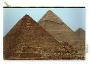 Pyramids At Giza Carry-all Pouch by Bob Christopher