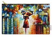 Rain Princess - Palette Knife Landscape Oil Painting On Canvas By Leonid Afremov Carry-all Pouch