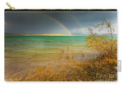 Rainbow And Dark Clouds Over Large Lake Carry-all Pouch
