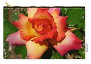 Rainbow Sorbet Rose Carry-all Pouch by Denise Mazzocco