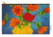 Red And Orange Flowers Carry-all Pouch