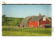 Red Barn And Fence On Farm In Maine Carry-all Pouch