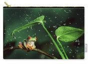 Red-eyed Tree Frog In The Rain Carry-all Pouch