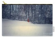 Red Flag On The Snow Covered Golf Course Carry-all Pouch