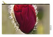 Red Poppy Bud Carry-all Pouch
