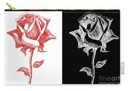 2 Red Rose Drawing Combo Carry-all Pouch