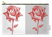 2 Red Roses Poster Carry-all Pouch