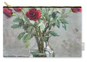 Red Roses Carry-all Pouch by Ylli Haruni