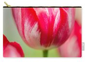 Red Tulips On The Green Background Carry-all Pouch