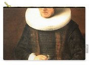 Rembrandt's An Old Lady With A Book Carry-all Pouch