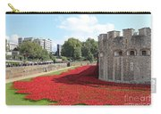 Remembrance Poppies At Tower Of London Carry-all Pouch