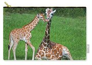 Reticulated Giraffe Calf With Mother Carry-all Pouch