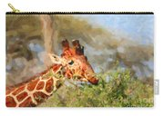Reticulated Giraffe Kenya Carry-all Pouch