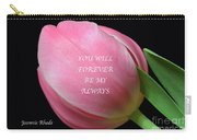 Romantic Pink Tulip Carry-all Pouch