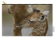 Rothschild Giraffe And Calf Carry-all Pouch