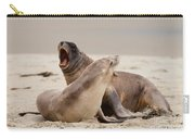 Rough Courtship Of Male And Female Hookers Sealions Carry-all Pouch