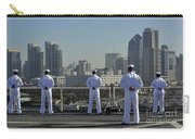 Sailors Man The Rails Aboard Carry-all Pouch